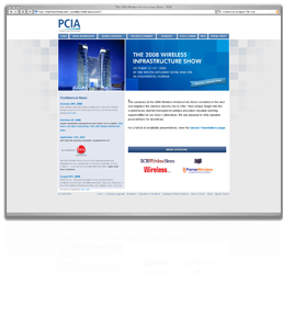 PCIA Show Site Screenshot